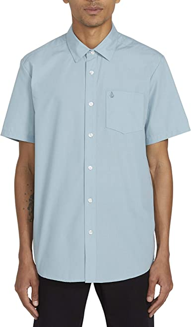 Volcom - Cj Collins S/S - Camisa De Manga Corta - Hombre - Azul: Amazon.es: Ropa y accesorios