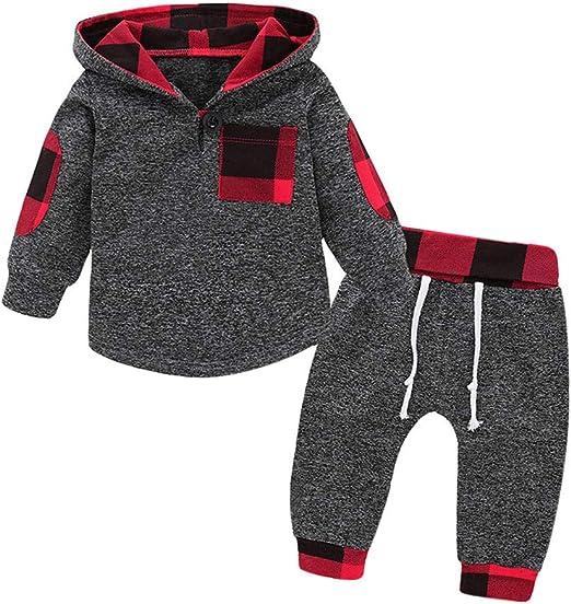 Staron  Baby Hoodies Infant Boys Girls Plaid Zipper Hooded Sweatshirts Pocket Coat