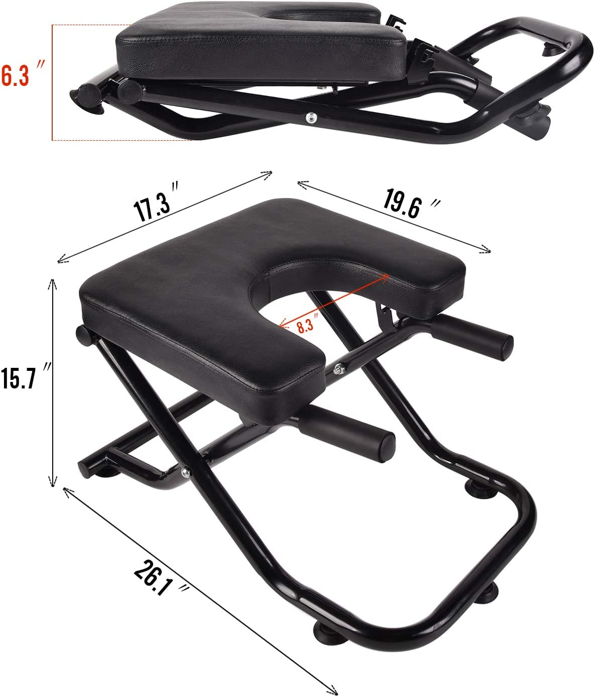Gym Fitness Stand Yoga Chair for feet up Yoga Trainer Leg Stool Workouts for Family YU YUSING Yoga Headstand Inversion Bench with Suction Cup