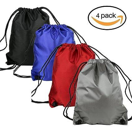 mujeres hombres deporte Cordón Mochila bolsillos Outdoor Gym Saco RCA bolso Publicidad, color solid,