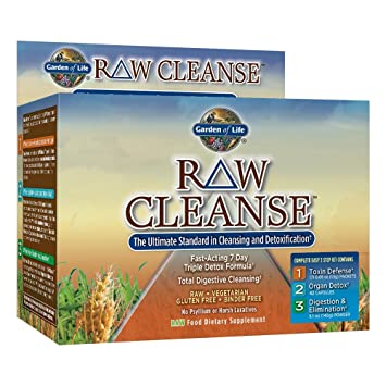 Garden Of Life Vegetarian Triple Detox Pills   Raw Cleanse Kit Nice Look