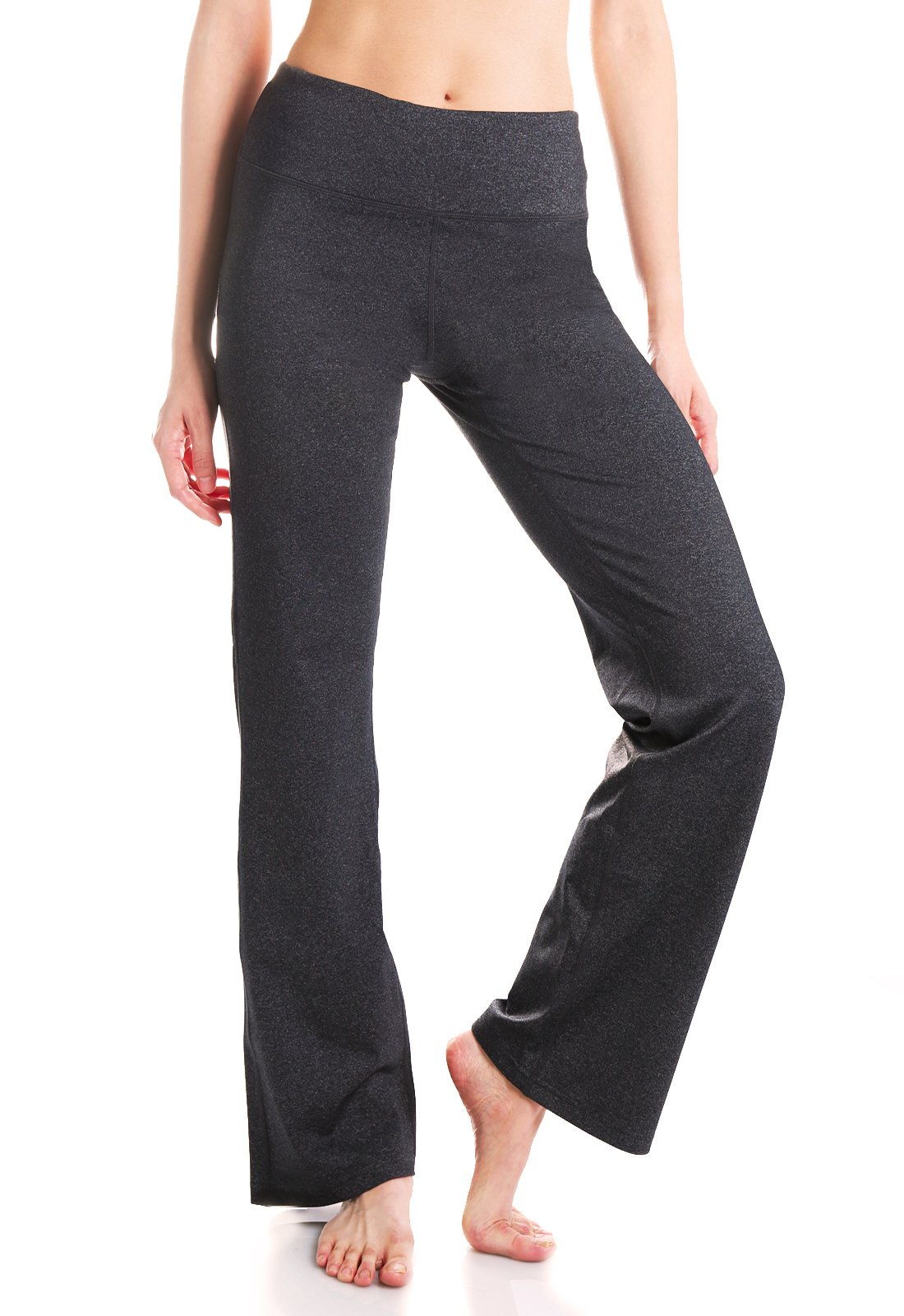 Yogipace,2 Back Pockets,29''/31''/33''/35''/37'' Inseam, Women's Bootcut Yoga Pants Workout Pants,Petite/Regular/Tall Length, 37'' Inseam, Size 2XL, Charcoal