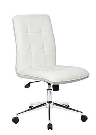 modern home office chairs. boss office products b330wt mellennial modern home chair without arms in white chairs