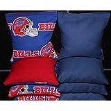 BackYardGamesUSA Cornhole Bean Bags Made w Buffalo Bills Fabric 8 ACA Regulation Game Toss Bags