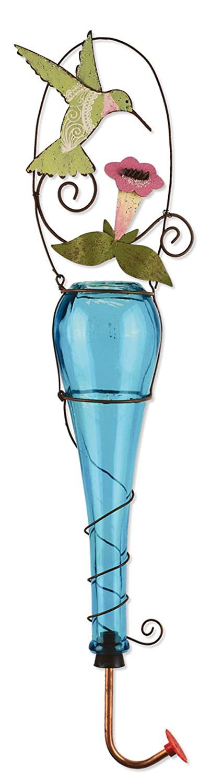 Sunset Vista Designs Garden Essentials Paisley Hummingbird Feeder, 21-Inch Tall 91025