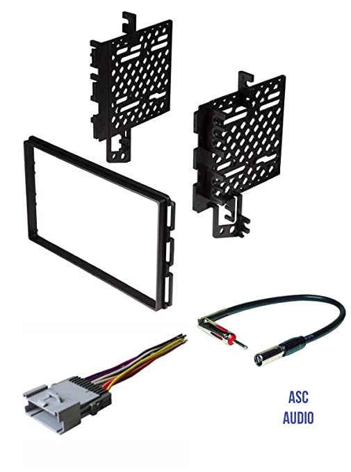 asc car stereo radio install dash kit, wire harness, and antenna adapter  for installing