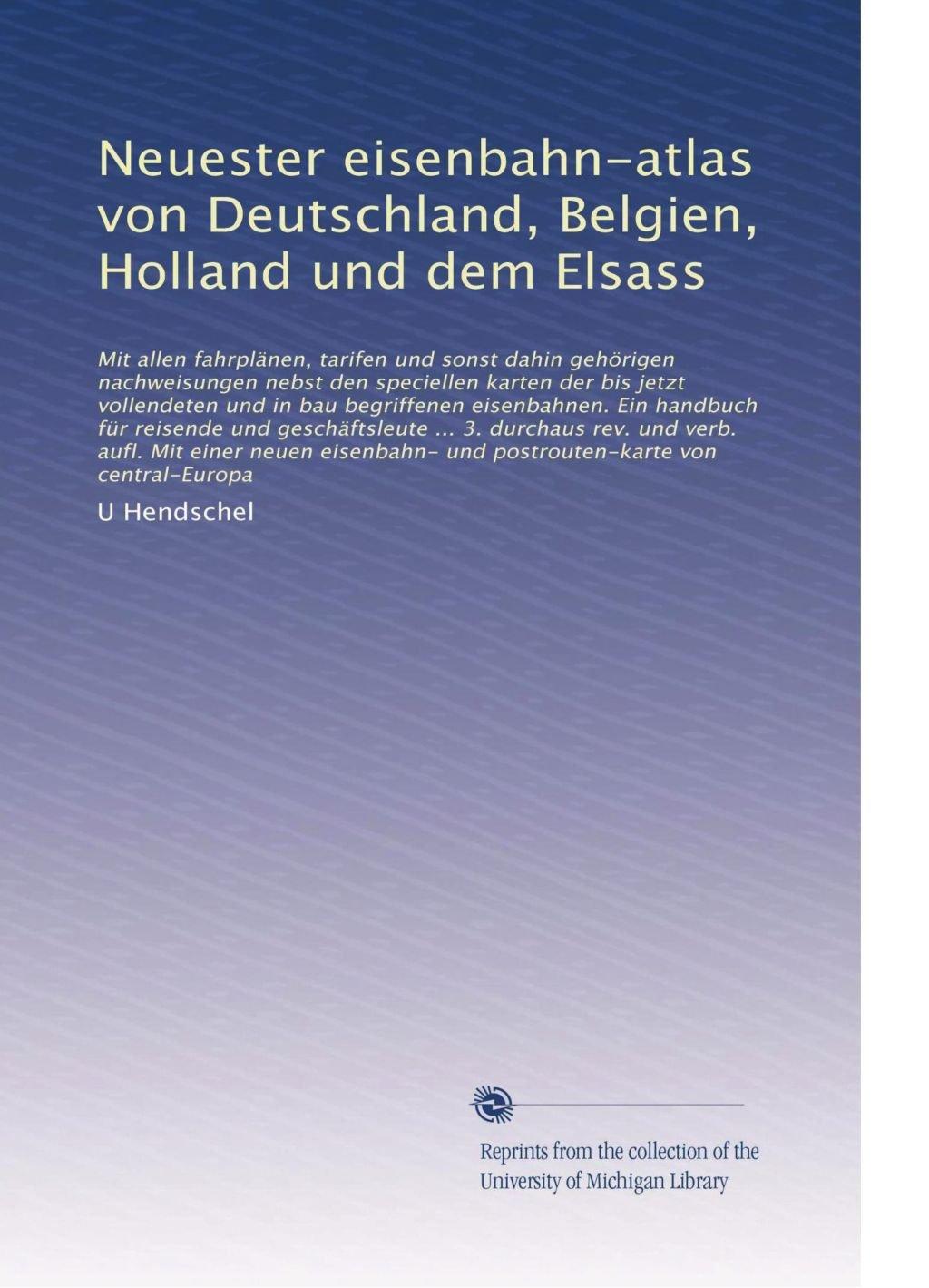 Neuester Eisenbahn Atlas Von Deutschland Belgien Holland Und Dem