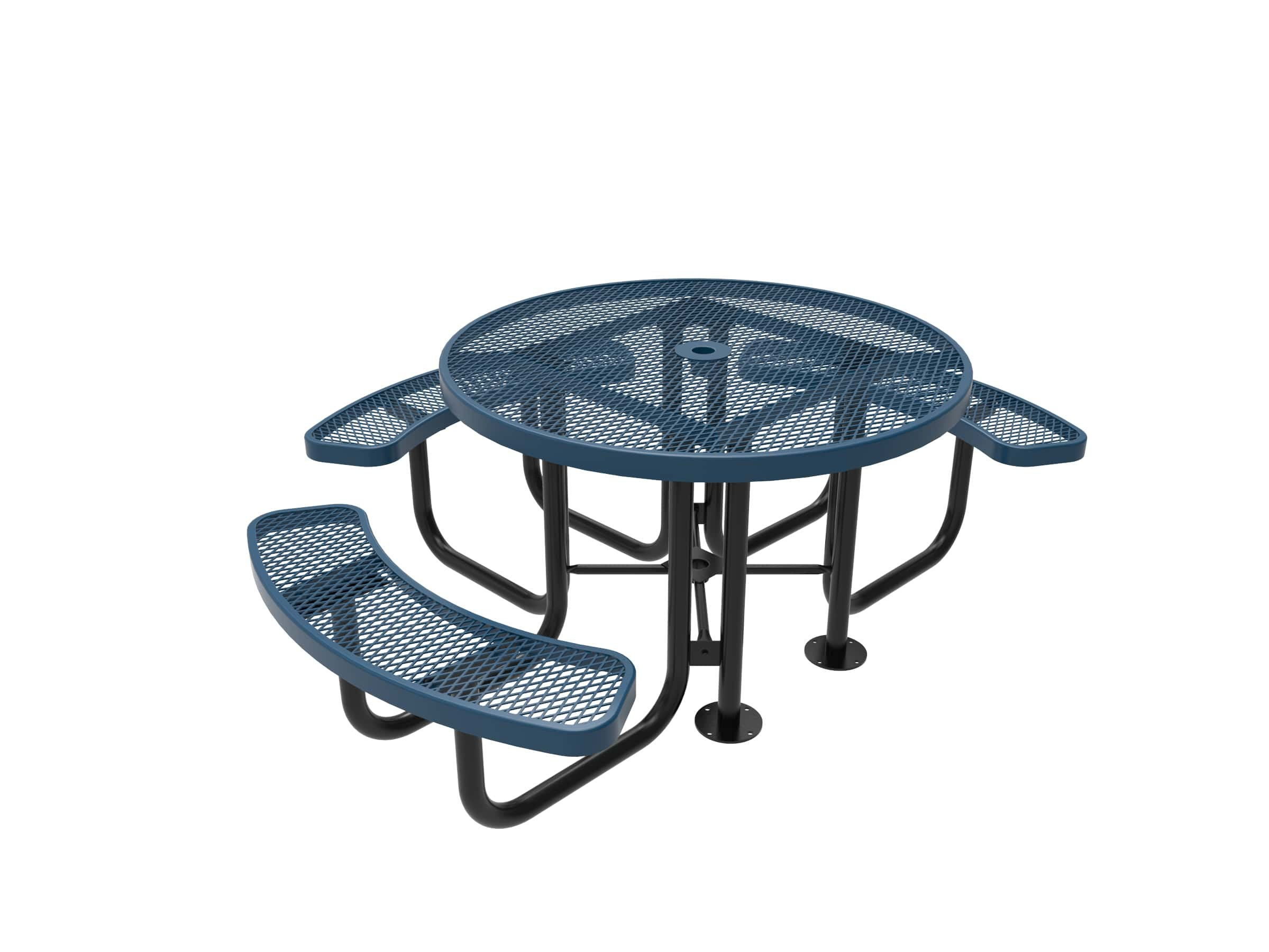 CoatedOutdoorFurniture TRD3-LBL Top Round Portable Picnic Table, 46-Inch, Light Blue by CoatedOutdoorFurniture