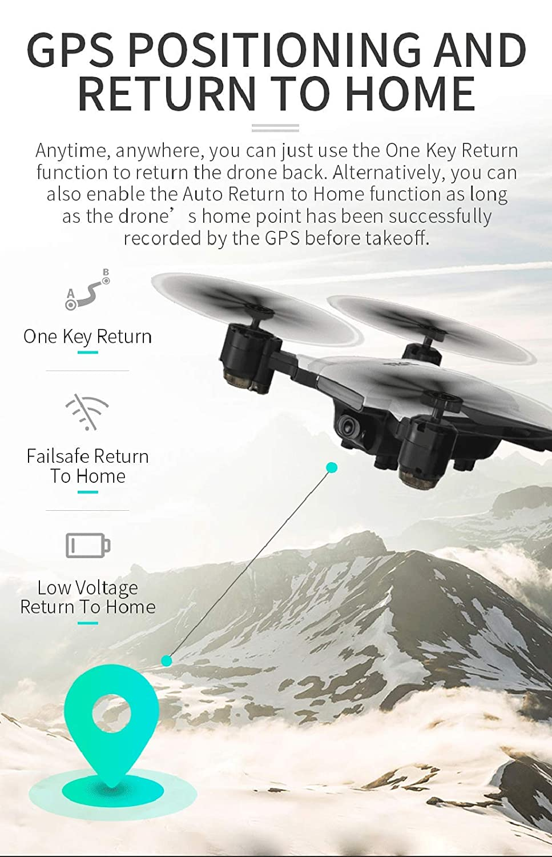 Dron 2019 de posicionamiento de modo dual 2.4 GHz 6 ejes Gyro 4 ...