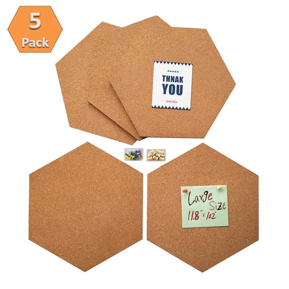 Uniligis Hexagon Cork Board Tiles Large Size Bulletin Board