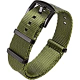 Ritche Military Ballistic Nylon Watch Strap with Heavy Buckle 18mm 20mm 22mm Premium Nylon Watch Bands for Men Women