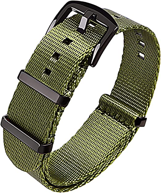 Loop Army Watchband  Nylon Fabric  Stainless Buckle  Colour As Shown  Size Options