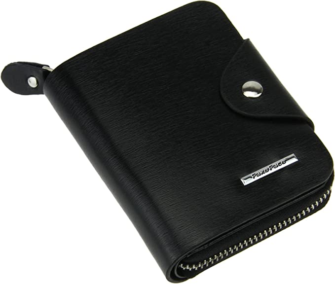 Mens Genuine Cowhide Leather Credit-ID Card Holder Bifold Wallet Slim Purse Gift