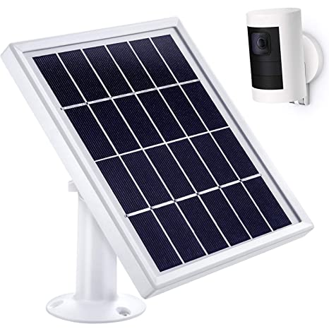 Max 3.6 m// 11.8 ft Cable with Barrel Connector Not for Stick Up Cam//Arlo Cam Series 5 V// 3.5 W Skylety-Solar Panel-01 856695 White Output Skylety Solar Panel for Ring Spotlight Cam with Security Wall Mount Without CAM