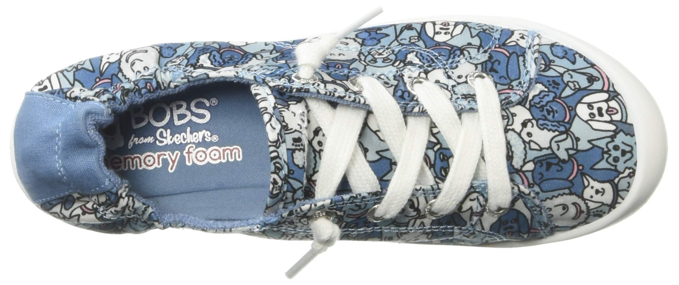 Skechers BOBS Women's Beach Bingo-Woof Pack Platform, Blue Multi, 8 M US