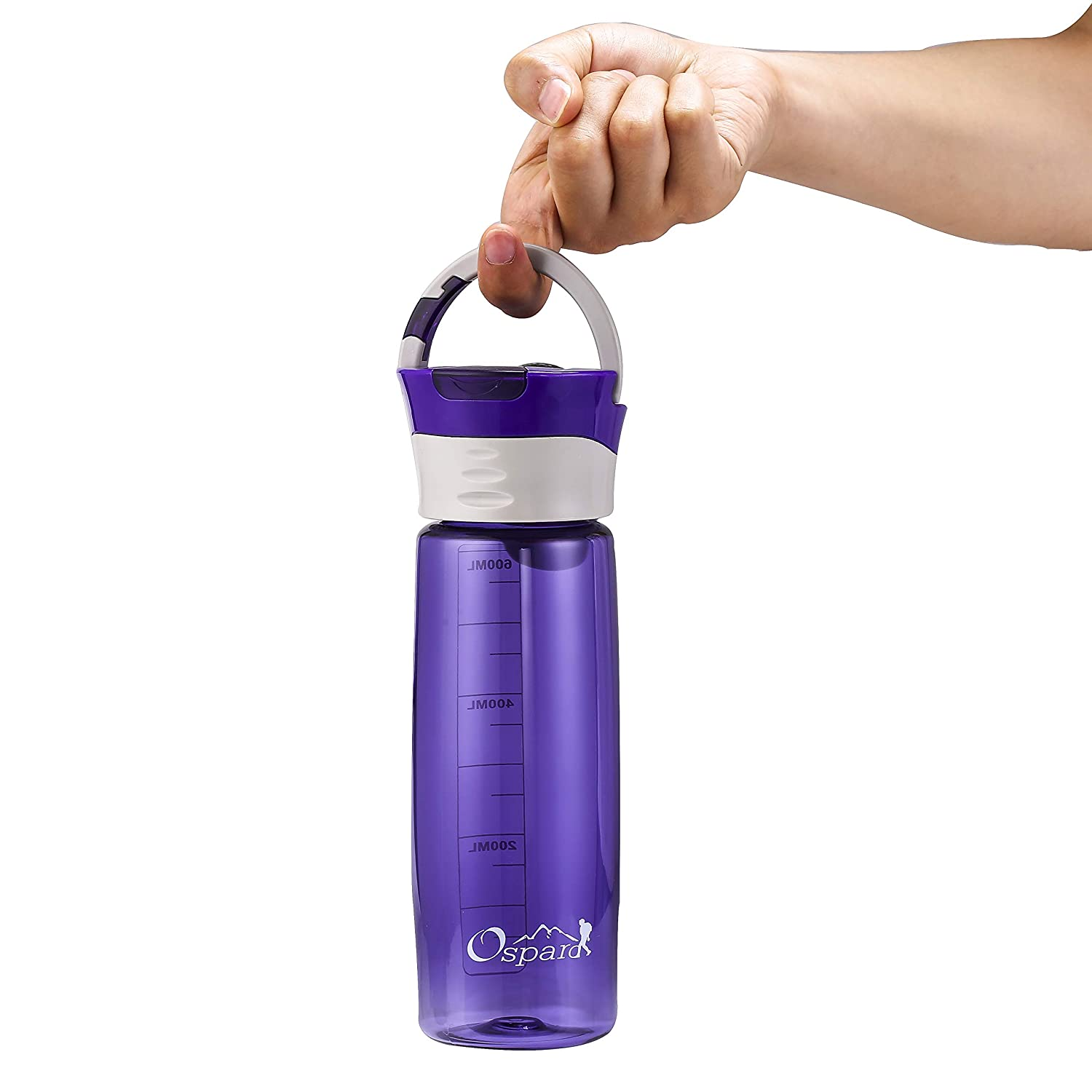 OSPARD Sports Active Bike Water Bottle Hook 23 oz Non-Toxic BPA Free Eco-Friendly Co-Polyester Plastic Water Container A6
