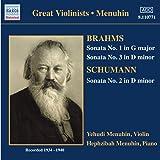 Brahms; Schumann - Violin Sonatas