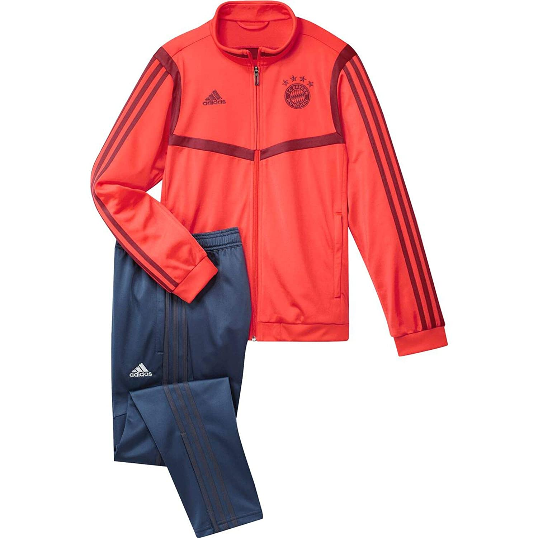 adidas FCB PES Suit Y Chándal, Unisex niños, rojbri/Marnoc, 164 ...