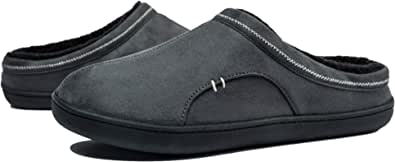 Hombre Zapatillas de Casa Antideslizantes Espuma de Memoria Invierno Pantuflas Interiores y Exteriores, Talla 39-50