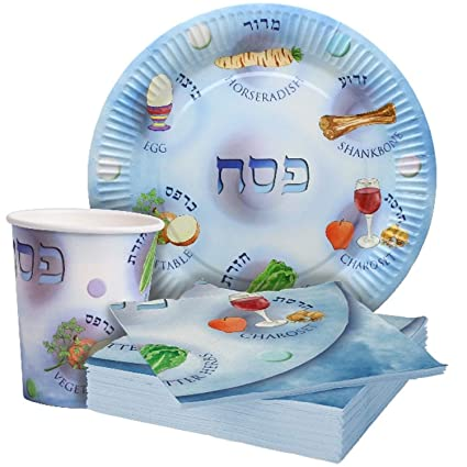 Amazon Com Passover Disposable Paper Plates Cups And Napkins For