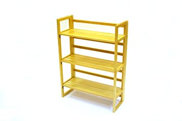 be furniture 3 tier stacking wooden folding bookshelf book case book shelves bookshelves - Folding Bookshelves
