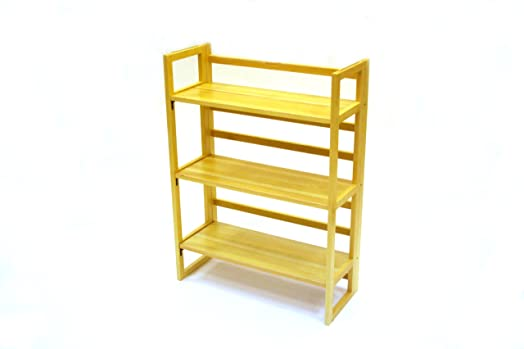 3 Tier Stacking Wooden Folding Bookshelf, Book Case, Book Shelves  bookshelves