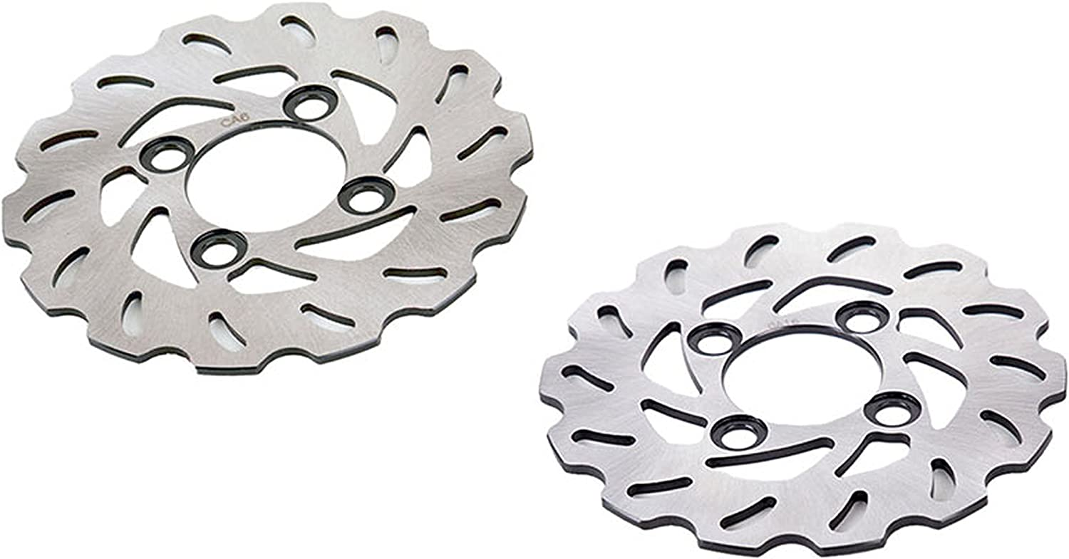 Brake Rotor fits Yamaha YFZ 450 YFZ450 2004-08 Front RipTide Disc x2 Race-Driven