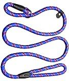 yueton Pet Dog Nylon Leash Rope Adjustable Loop Slip Lead (Blue)