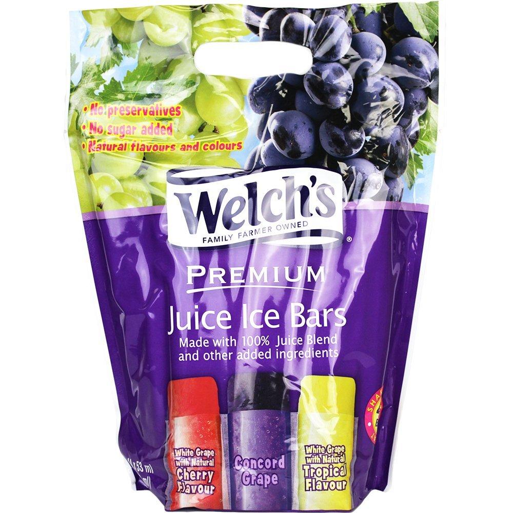 Welch's Premium 100% Grape Juice Ice Bars Flavored Juice Blends (2 oz.) - 52 Bars