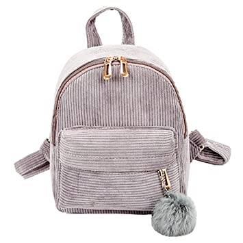 Outsta - Mochila escolar de pana de pelo, 2018, mochila de viaje, impermeable, casual, multicolor: Amazon.es: Juguetes y juegos