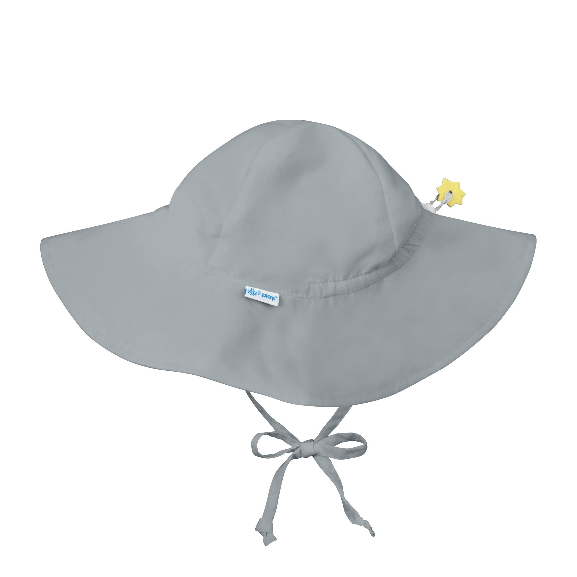 i play.. Baby Brim Sun Protection Hat, Gray, 0-6 months