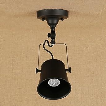 E27 lámpara colgante hierro con - Luz de techo estilo ...