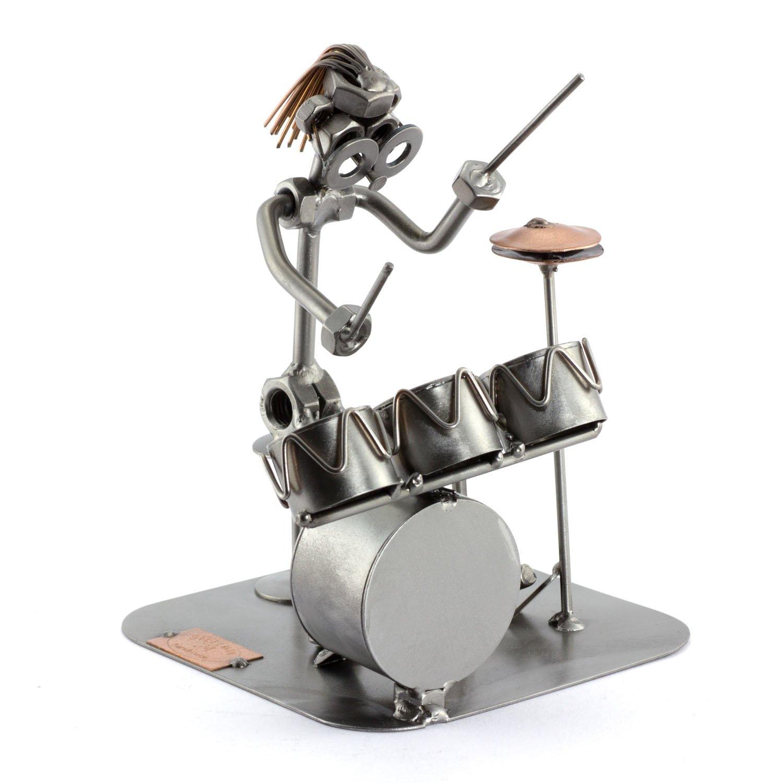 Steelman24 I Schraubenmännchen Schlagzeug Mit Mit Mit Persönlicher Gravur I Made in Germany I Handarbeit I Geschenkidee I Stahlfigur I Metallfigur 0cc25f