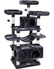 BEWISHOME Large Cat Tree Condo with Sisal Scratching Posts Perches Houses Hammock, Cat Tower Furniture Kitty Activity Center Kitten Play House MMJ03