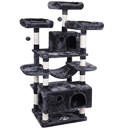 Amazing Bewishome Large Cat Tree Condo With Sisal Scratching Posts Perches Houses Hammock Cat Tower Furniture Kitty Activity Center Kitten Play House Mmj03 Download Free Architecture Designs Scobabritishbridgeorg