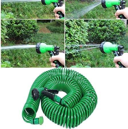 DYHM Manguera de jardín 7,5 / 15M Manguera de jardín de Agua de la Manguera expansible Flexible mágico de plástico Mangueras Tubo con riego por aspersión riego Pistola Extensible (Lengh : 7.5m):