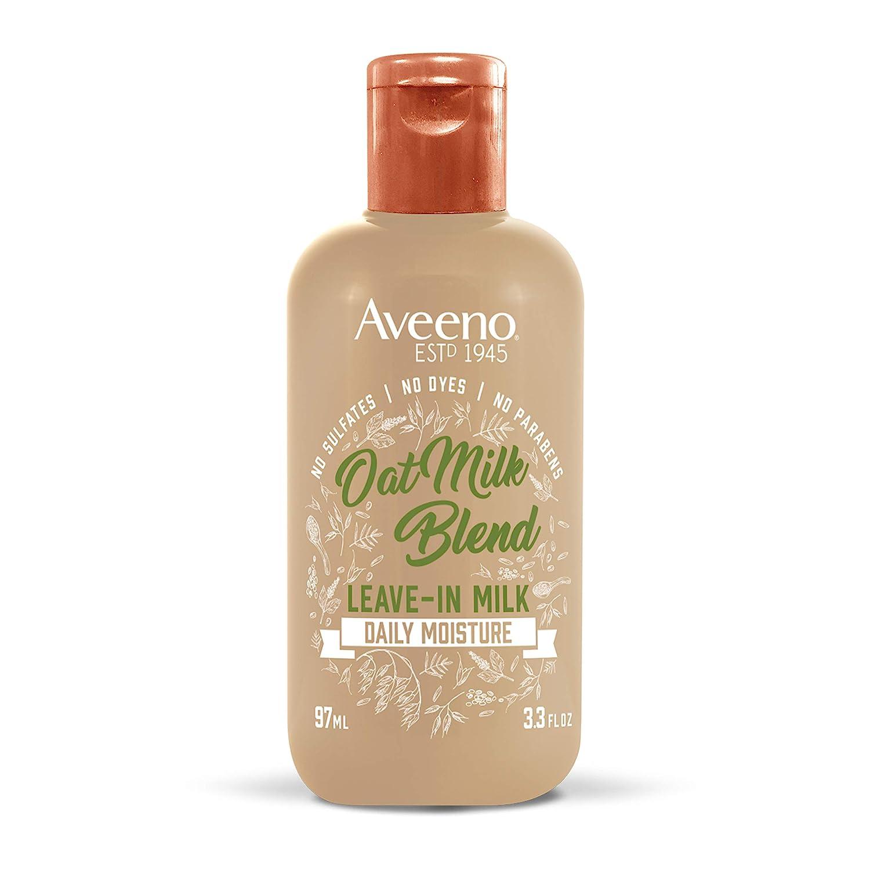 Aveeno Hydrating Oat Milk Leave-In Milk Hair Treatment, 3.3 Ounce