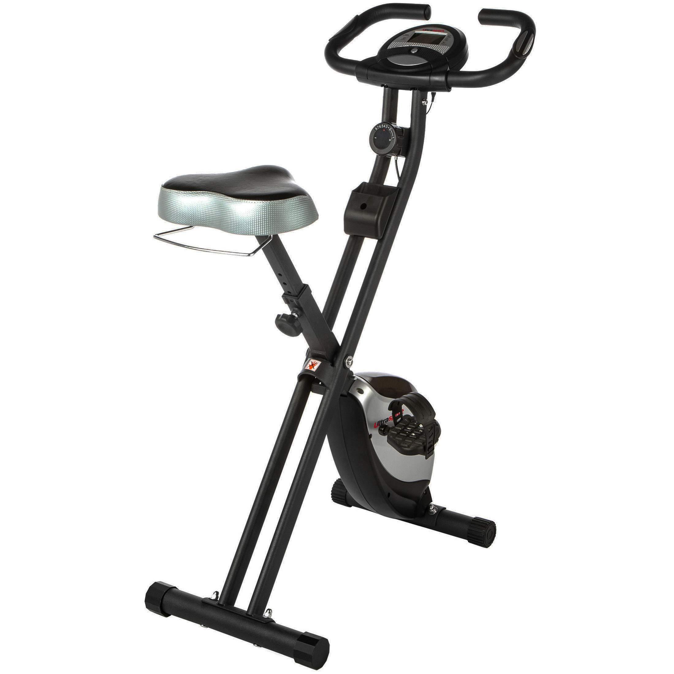 Ultrasport F-Bike Heavy Bicicleta estática de fitness, aparato doméstico, con consola y