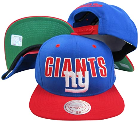 Image Unavailable. Image not available for. Color  Mitchell   Ness New York  Giants Blue Red Two Tone Plastic Snapback Adjustable Plastic Snap 947b060728ee