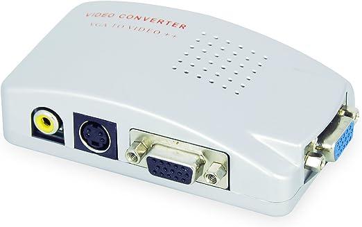 LEICKE KanaaN - PC VGA para TV Composite Video RGB | Convertidor de PC, VGA a TV Video Compuesto RGB conéctelo a PC/laptop y TV: Amazon.es: Electrónica