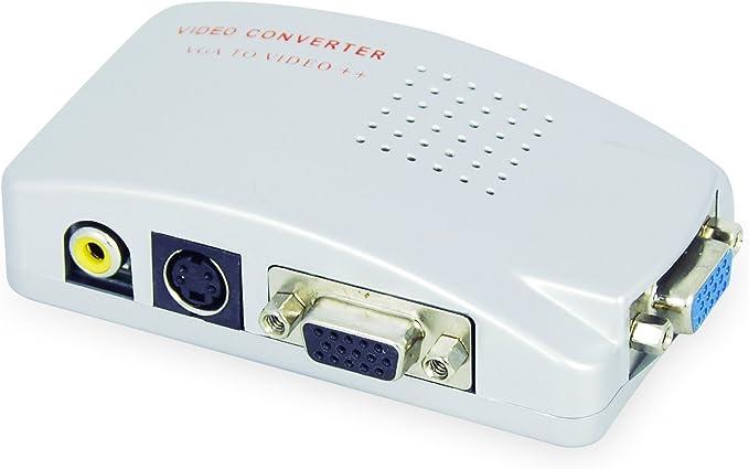 LEICKE KanaaN - PC VGA para TV Composite Video RGB   Convertidor de PC, VGA a TV Video Compuesto RGB conéctelo a PC/laptop y TV: Amazon.es: Electrónica