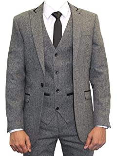 Mężczyźni – na okazje Men's White Platinum Formals Two Button Tuxedo Jacket & Pants Wedding Prom Mason