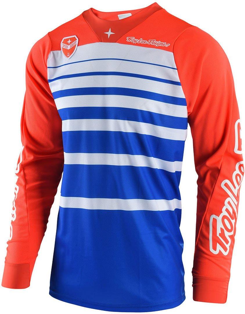 Troy Lee Designs Men's Offroad Motocross Streamline SE Jersey (X-Large, Red/Navy) 303404435