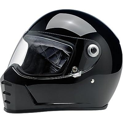 Biltwell Lane Splitter Solid Full-face Motorcycle Helmet - Gloss Black / 2X-Large: Automotive