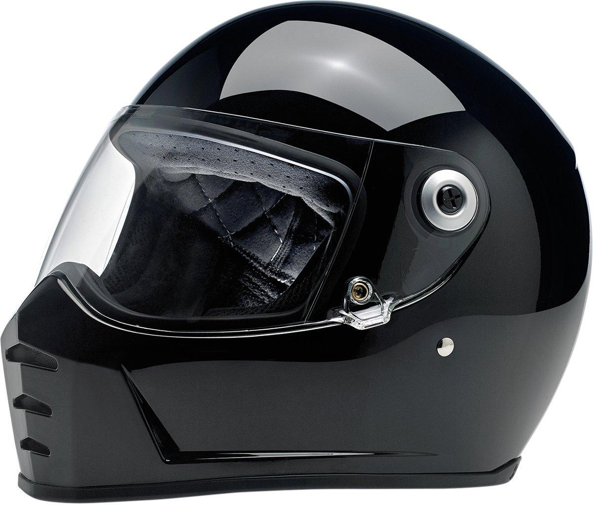 Biltwell Lane divisor s/ólido Full-Face/ /Casco de Moto Negro Brillante
