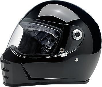 Biltwell Lane divisor sólido Full-Face – Casco de Moto Negro Brillante
