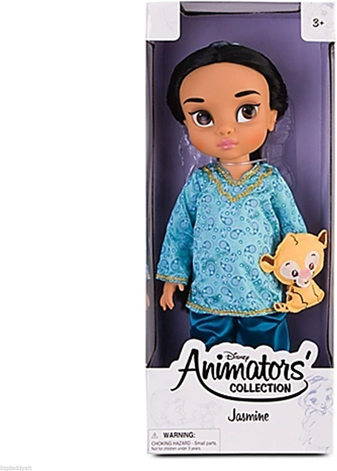 B005T6MO22 Disney Princess Animators' Collection Toddler Doll 16'' H - Jasmine with Plush Friend Raja 719JFLsZzML