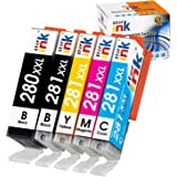 Starink Compatible Ink Cartridge Replacement for Canon 280 281 XXL PGI-280XXL CLI-281XXL for Pixma TR8520 TR8620 TS6220 TS632