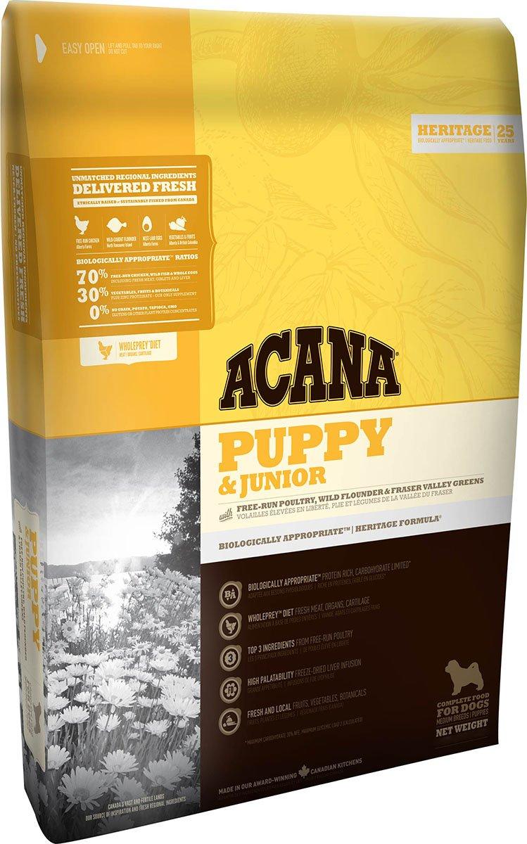 Acana Puppy et Junior Nourriture pour Chien, 11.4kg BR50011