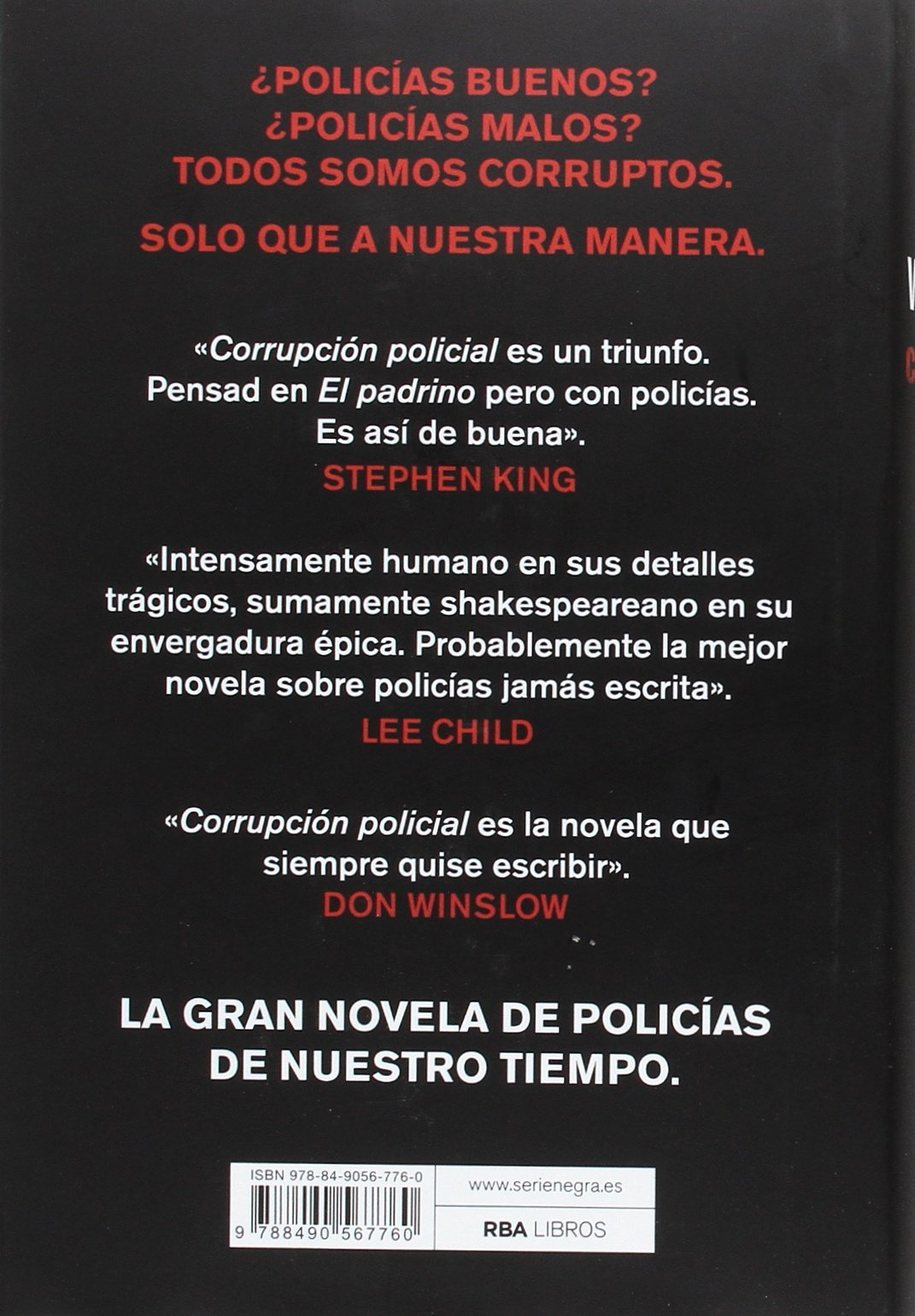 Corrupción policial (Spanish Edition): Don Winslow, RBA ...